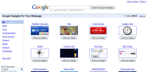 Google Gadgets